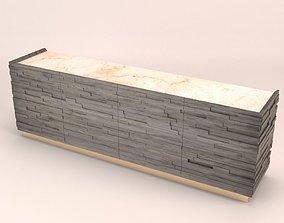 Brick sideboard 3D model