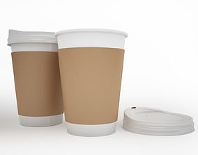Coffee takeaway disposable paper cup 3D model