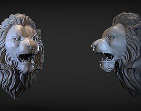 3D print model Angry Lion head