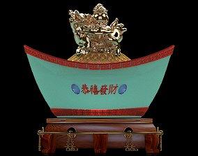 3D model Chinese gold ingot sculpture