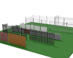 Fences and Walls 3D asset