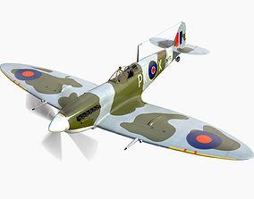 Supermarine Spitfire 3D model fighter