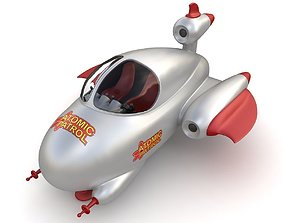 Toy space ship 03 3D model