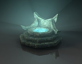 Fantasy fountain 3D model