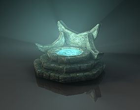 Fantasy fountain 3D model