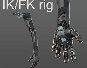 3D model Robotic hand anatomy