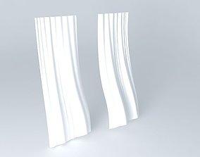 3D model Blown Curtain