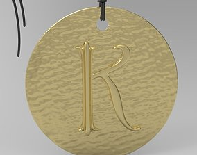 jewel Alphabet Latin K 3D print model
