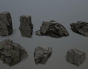 cliff rock set mountain 3D asset realtime
