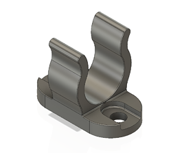 Tiller Extension Retaining Clip for 16mm Tube Marine 3d