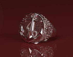 Captains ring 3D print model rings