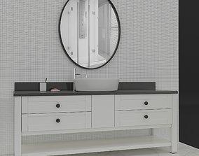 Bathroom Cabinet 3D model retro faucet