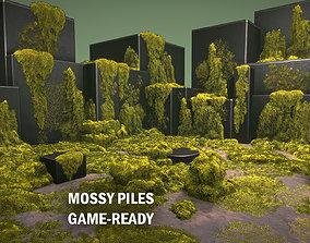 3D asset Mossy piles