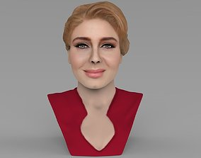 music Adele bust ready for full color 3D printing