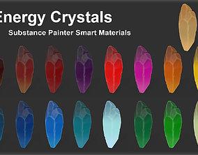 Substance Painter Energy Crystals Smart 3D model