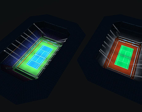 Tennise stadium 3D model