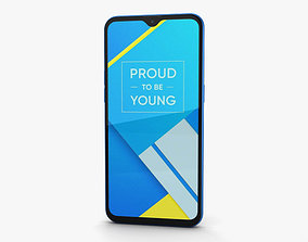 Realme C2 Diamond Blue 3D model