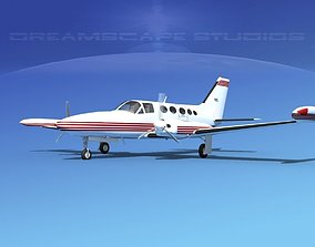 3D model Cessna 414 Chancellor V10