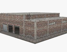 Garage Building - Low Poly 3D model