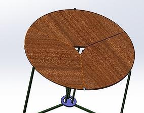 3D A foldable table