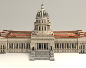 game-ready Capitol Havana Cuba 3d Model