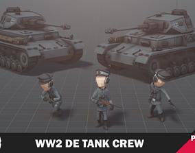 WW2 DE Tank Crew 3D model
