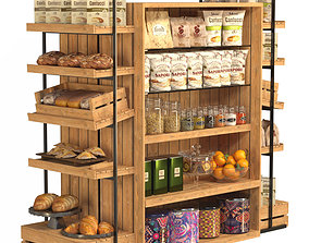 3D model Rack with products