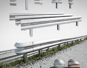 3D model road fence kit A