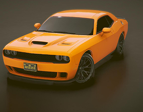 Low-poly Sports car 6 3D model
