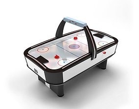 Air Hockey Game Table 3D model