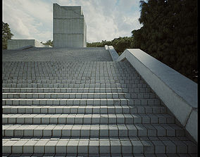 Tadao Museum Stairs form Third Seventh animated 3
