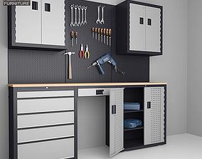 3D model Garage 03 Set Furniture and Tools