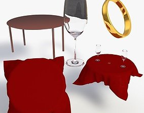 3D asset Valentines Day Set