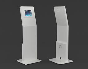 Tablet Kiosk Floor Stand 3D