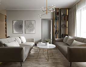 3D model 2 ROOM APARTMENT IN MODERN STYLE