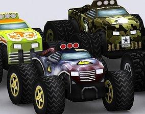 3D model Road rush monster trucks