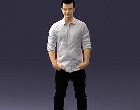 Man in a white shirt 0345 3D Print Ready