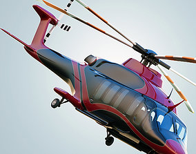 3D Bell 525 Helicopter