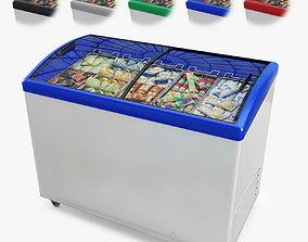 Ice Cream Display Freezer 3D