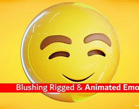 3D asset Blushing Animated Emoji Reaction