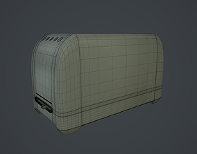 Toaster 3D model game-ready PBR