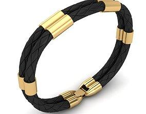 3D printable model MEN LEATHER BRACELET bracelettesselcaps