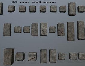 3D asset wall stone
