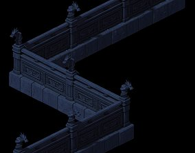3D Huanglongshan - stone chamber railings