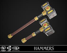 Fantasy Hammers 03 3D