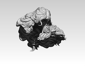 3D print model Woman Girl Hair
