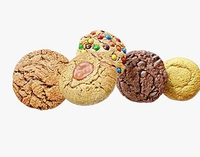 Cookies strawberry 3D model PBR