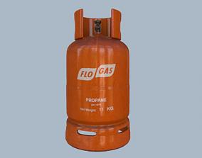 Gas Cylinder Orange 3D model
