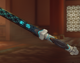 Genji Baihu Short sword and sheath 3D printing files