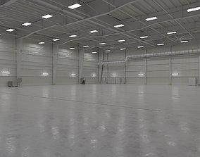 3D model Airplane Hangar Interior 1
